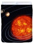 Solar System Duvet Cover by Stocktrek Images