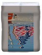Stars And Stripes On The Water Duvet Cover by Steven Lapkin