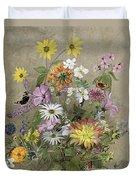 Summer Flowers Duvet Cover by John Gubbins