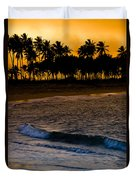 Sunset At The Beach Duvet Cover by Sebastian Musial