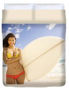 Surfer Girl Duvet Cover by Sri Maiava Rusden - Printscapes