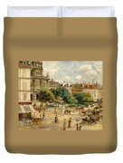 The Banks Of The Seine At Bougival Duvet Cover by Pierre Auguste Renoir