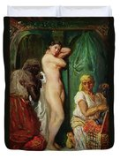 The Bath In The Harem Duvet Cover by Theodore Chasseriau