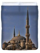 The Blue Mosque In Istanbul Turkey Duvet Cover by David Smith