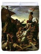 The Raft of the Medusa Duvet Cover by Theodore Gericault
