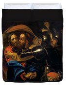 The Taking Of Christ Duvet Cover by Michelangelo Caravaggio