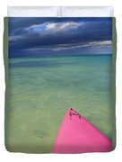 Tip Of Pink Kayak Duvet Cover by David Cornwell/First Light Pictures, Inc - Printscapes