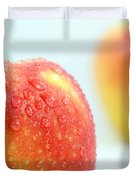 Two red gala apples Duvet Cover by Paul Ge