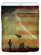 USA Patriotic Operation Geronimo-E KIA Duvet Cover by James BO  Insogna