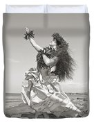 Wahine Hula Duvet Cover by Himani - Printscapes
