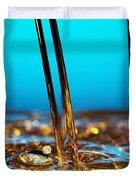 water and oil Duvet Cover by Setsiri Silapasuwanchai