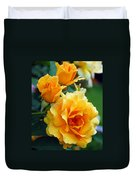 Yellow Roses Duvet Cover by Amy Fose