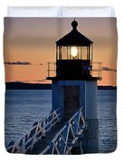 Marshall Point Lighthouse Duvet Cover by John Greim