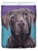 100 Lbs. Of Chocolate Love Duvet Cover by Pat Saunders-White