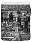 1860's Ore Assay Office Shop - Montana Duvet Cover by Daniel Hagerman
