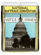 1913 Votes For Women Duvet Cover by Historic Image