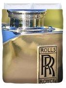 1935 Rolls-Royce Phantom II Hood Ornament Duvet Cover by Jill Reger