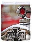 1936 American LaFrance Fire Truck Hood Ornament Duvet Cover by Jill Reger