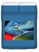 1936 Cadillac Hood Ornament 2 Duvet Cover by Jill Reger