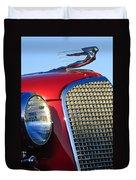 1937 Cadillac V8 Hood Ornament 2 Duvet Cover by Jill Reger