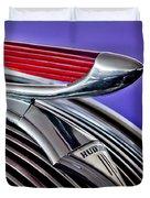 1937 Hudson Terraplane Sedan Hood Ornament 2 Duvet Cover by Jill Reger