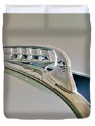 1940 Plymouth Hood Ornament 3 Duvet Cover by Jill Reger