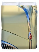 1941 Lincoln Continental Cabriolet V12 Grille Duvet Cover by Jill Reger