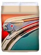 1948 Pontiac Chief Hood Ornament Duvet Cover by Jill Reger