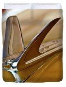 1949 Chevrolet Fleetline Hood Ornament Duvet Cover by Jill Reger
