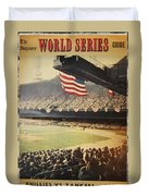 1950 Phillies Vs Yankees World Series Guide Duvet Cover by Bill Cannon