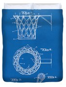 1951 Basketball Net Patent Artwork - Blueprint Duvet Cover by Nikki Marie Smith
