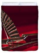 1954 Ford Cresline Sunliner Hood Ornament Duvet Cover by Jill Reger