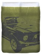 1968 Ford Mustang Duvet Cover by Naxart Studio