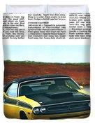 1971 Dodge Challenger T/a Duvet Cover by Digital Repro Depot