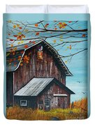 1980 Barn Duvet Cover by Linda Simon