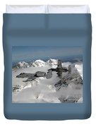 A-10 Thunderbolt IIs Fly Duvet Cover by Stocktrek Images