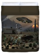Artists Concept Of A Science Fiction Duvet Cover by Mark Stevenson