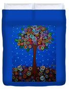 Day Of The Dead Duvet Cover by Pristine Cartera Turkus
