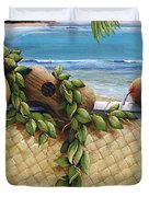 Hawaiian Still Life Panel Duvet Cover by Sandra Blazel - Printscapes