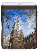 Independence Hall Duvet Cover by John Greim