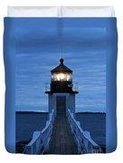 Marshall Point Light Duvet Cover by John Greim