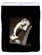 Retro Pinup Duvet Cover by Clayton Bruster