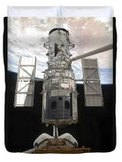 The Hubble Space Telescope Is Released Duvet Cover by Stocktrek Images