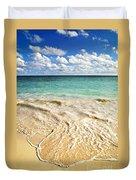 Tropical Beach  Duvet Cover by Elena Elisseeva