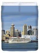 Vancouver Skyline Duvet Cover by John Greim