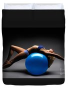 Woman On A Ball Duvet Cover by Oleksiy Maksymenko