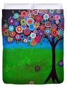 Tree Of Life Duvet Cover by Pristine Cartera Turkus