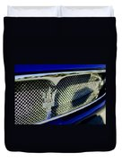 2002 Maserati Hood Ornament Duvet Cover by Jill Reger