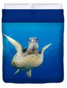 Green Sea Turtle Duvet Cover by Dave Fleetham - Printscapes