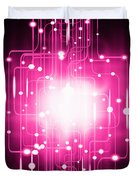 abstract circuit board lighting effect  Duvet Cover by Setsiri Silapasuwanchai